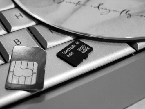 MicroSD card size comparison