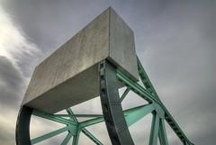 Object of Power (claustral) Tags: bridge sky green concrete construction sweden steel drawbridge draw heavy malmö flickrmeet weight hdr photomatix nikond200 atx124 klaffbro hdrpro flickrmeet081012