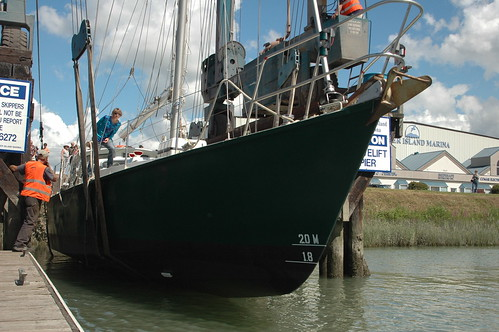 Achiever being launched at after year long refit