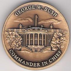 George W. Bush Challenge Coin Obverse
