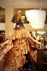 like a rustic fairy tale (jodi*mckee) Tags: display anthropologie woodenskirt rockefellerplazastore