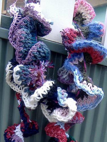 crazy curlicue scarf
