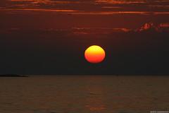 Sunset #3 (Necromundo) Tags: ocean sunset water abend meer wasser sonnenuntergang sommer urlaub himmel croatia 2008 sonne fontana küste porec istria kroatien idyl mittelmeer vrsar funtana istrien idyle