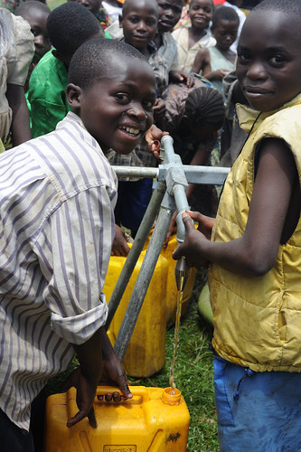 Distribution of clean water around Kibati