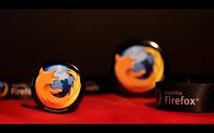 Mozilla Firefox black pins (wallpaper)
