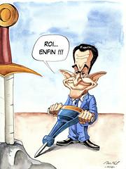 Arthur Sarkozy (Mikl Olivier) Tags: art illustration painting arthur michael king nicolas sarkozy olivier roi mikl iznogoud sarkoland drawmada