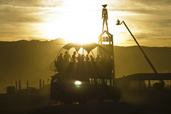 Art car at Sunset, Burning Man 2008