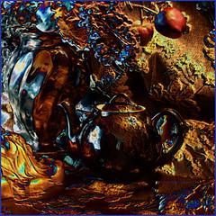 Abstracted Autumn Still Life (Detail) (ArteZoe) Tags: autumn stilllife abstract photoshop interior teapot photopainting artezoe finephotoshopdesign