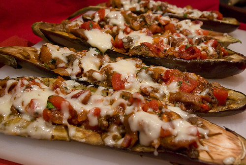 Baked Eggplant with Tomato & Mozzarella