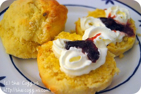 Scones with Cream & Jam