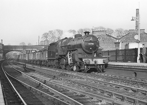 Hughes-Fowler 2-6-0 no.42790. Bromsgrove. South-bound. 2 March 1963