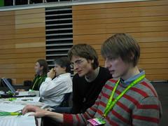 Arvid Bell und Lukas Heinser auf dem Grünen-Parteitag