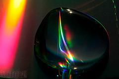 CD DROP (ViaMoi) Tags: canada color colour macro water outside photography photographer spectrum cd ottawa drop canadian refraction lowsun canon40d viamoi