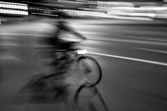 Sound Barrier (edouardv66) Tags: street light bw bike night speed cycling switzerland blackwhite movement nikon suisse geneva sigma nb explore cycle genève noirblanc 2470 nikonsigma d700 swichpan