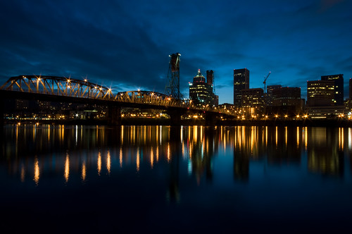 Hawthorne Bridge and Downtown Portland