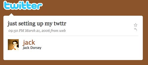 1st Twit ever from Jack Dorsey