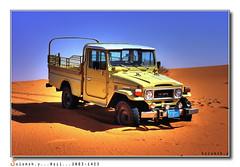 (Salamah.y) Tags: hail truck desert kingdom saudi arabia toyota land 1980 cruiser hdr   ksa  salamah                        theunforgettablepictures             salamahy