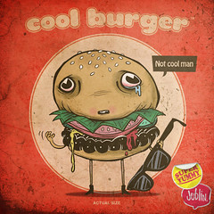 cool burger (jublin) Tags: me glasses cool sad little juice no burger eat hamburger slap patty mayonnaise burg jublin