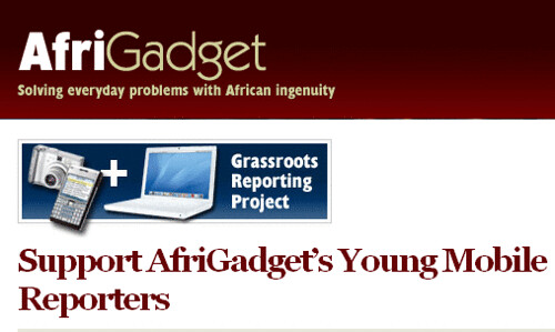 Afrigadget - young mobile reporters!