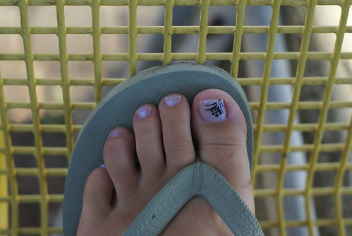 Shoe Toe Nail Art design
