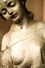vecchia statua di giovane ragazza (Pandaziri) Tags: art girl statue sad statua ritratti ragazza portatrait