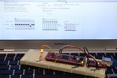 WiringMini board running Wiring_Osc