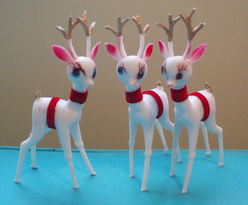 round head white reindeer by artgoodieshome