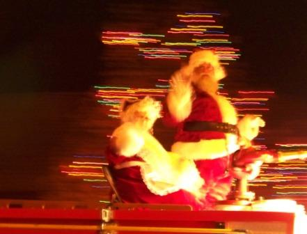 Mr and Mrs Claus in a Hurry