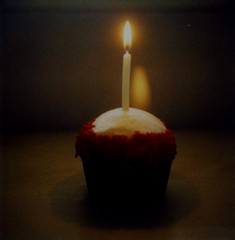 Happy Birthday Chinako! (~KIM~) Tags: polaroid cupcake crumbs slr680 680 redvelvet