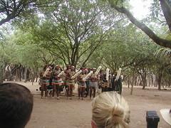 """Dancers in """"Zulu Village"""""""