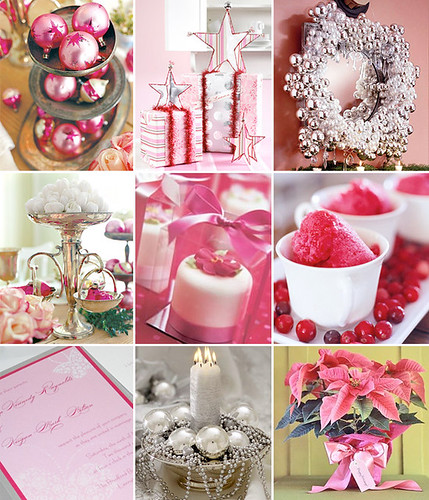 Pink Wedding Decoration Ideas: My Wedding Place: Pink And Silver Holiday Bridal Shower