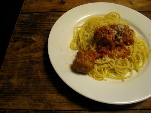 Spaghetti and Turkey Balls