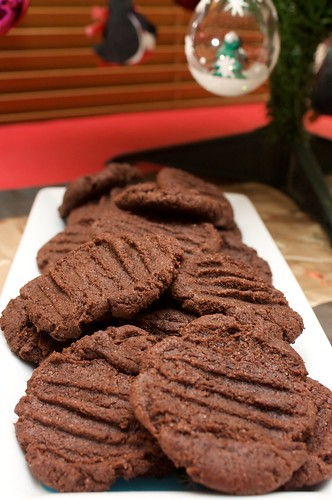chocolate and raspberry cookies