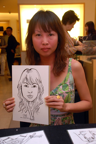 Caricature live sketching for Bulgari Christmas Brunch - 9