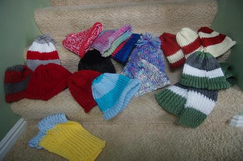 Knit hats 2008