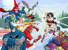 DC Comics Christmas card by the Kotzebue Bros.