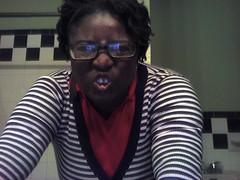 Snapshot_20081223_12 (Jenny_Taelyah) Tags: black hair glasses geek natural bbw curls baltimore dreads naturalhair rods firsttime blackwoman locs curlers plussize afropunk permrods africanamericam locsdreadlocks