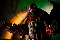 Darkness Rising (pairadocs) Tags: macro dark toy actionfigure other wings action vibrant hell evil plastic figure worlds nightmare spawn winged toddmcfarlane mcfarlane hellspawn otherworlds series31 necroplasm nightmarespawn