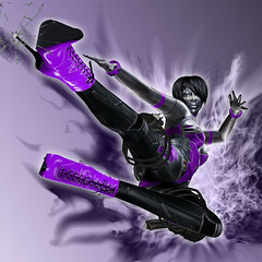 [Terminator] Purple Fire (Julia Merosi) Tags: skin secondlife weapon bracelets terminator ankleboots baxcoen juliamerosi ndmd