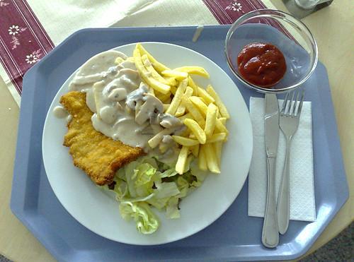 Schnitzel mit Pilz-Sahne-Sauce