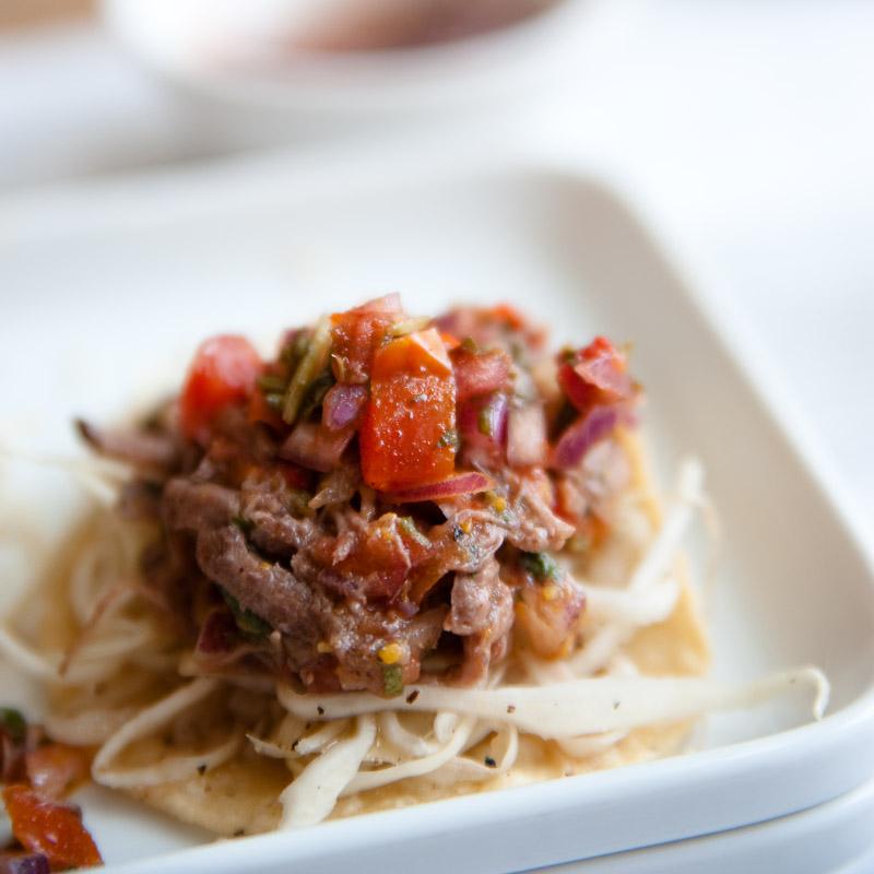 Lunch at wahaca - Beef Salpicón Tostatas