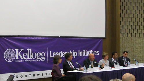 Kellogg panel discussing values-based leadership