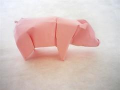 Pig (mitanei) Tags: animals pig origami schwein tant origamiartist mitanei origamipig keepfoldingon pigorigami schweinorigami origamikünstler
