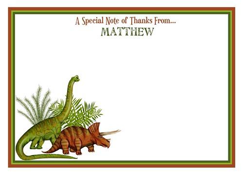 Dino Notecard