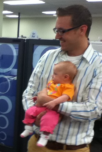 Ptw @jeffbrz 's little Lexi was in the office today!