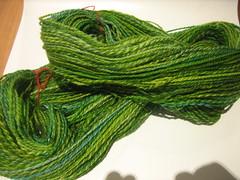 shetland green yarn