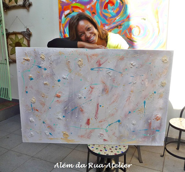 Curso de pintura em tela - Tela Abstrata