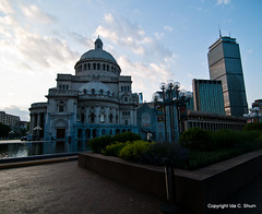 Christian Science at Dusk (idashum) Tags: longexposure nightphotography reflection boston night reflections landscape photography nikon exposure downtown cityscape massachusetts ida shum christianscience d300 marybakereddy christiansciencechurch idashum idacshum