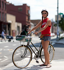 #BikeNYC Portrait: Carly and Burt in Williamsburg (Dmitry Gudkov) Tags: bikenyc bikephotographer new york brooklyn bike bicycle portrait gudphoto