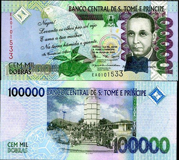 *100 000 Dobras Svätý Tomáš a Princov ostrov 2005 (2009), Pick 69